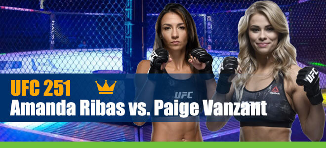 Amanda Ribas vs. Paige Vanzant UFC 251 Betting preview, odds and picks