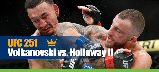 UFC 251 Volkanovski vs. Holloway II Betting Featherweight Title Bout
