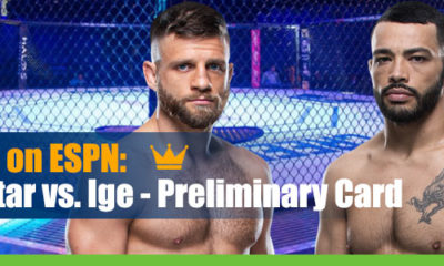 Dan Ige vs. Calvin Kattar UFC Fight Island 1 Betting preliminary card betting