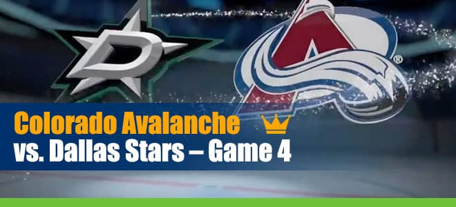 Colorado Avalanche vs. Dallas Stars Game 4 NHL Betting