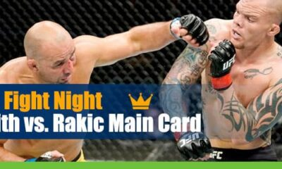 UFC Fight Night Smith vs. Rakic Main Card Odds