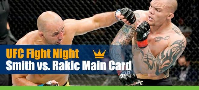 UFC Fight Night Smith vs. Rakic Main Card Odds