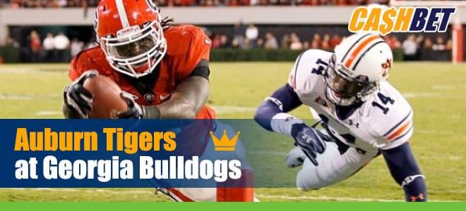 Auburn Tigers vs. Georgia Bulldogs College Football betting, odds and picks