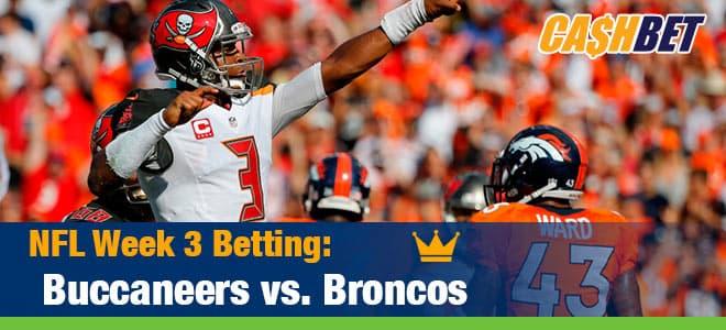 NFL Week 3 Betting: Buccaneers vs. Broncos CashBet Sportsbook Odds