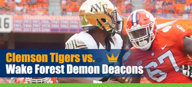 Clemson Tigers vs. Wake Forest Demon Deacons betting preview