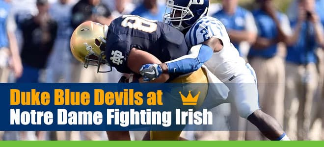 Duke Blue Devils vs. Notre Dame Fighting Irish NCAA Football Betting Preview and Odds