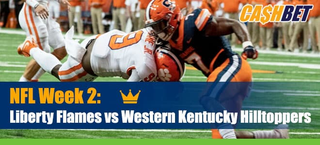 Liberty Flames vs. Western Kentucky College Football Betting Odds and Picks