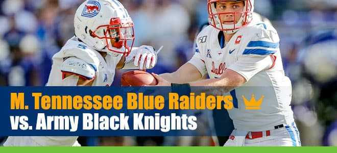 Middle Tennessee Blue Raiders at Army Black Knights Betting predicitons, odds and spread
