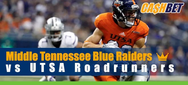 Middle Tennessee Blue Raiders vs. UTSA Roadrunners Predictions and Odds 9/25/2020