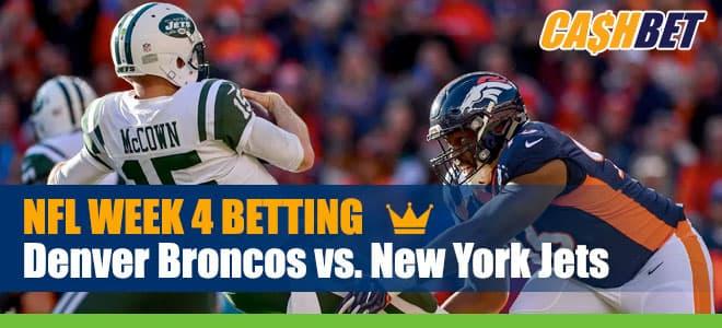 Denver Broncos vs. New York Jets NFL Betting, picks and lines