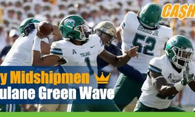 Navy Midshipmen at Tulane Green Wave NCAA Football Betting
