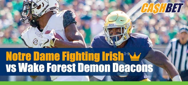 Notre Dame Fighting Irish vs. Wake Forest Demon Deacons NCAAF betting preview