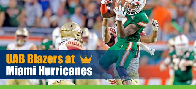 UAB Blazers at Miami Hurricanes College Football Betting Preview