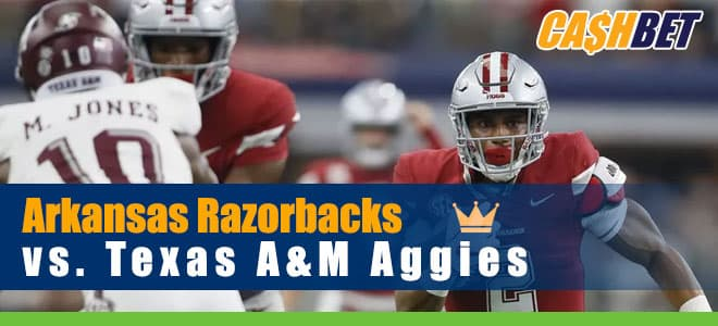 Arkansas Razorbacks at Texas A&M Aggies College Football betting odds and picks
