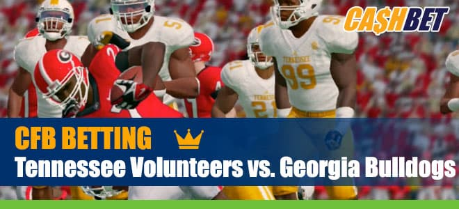 Tennessee Volunteers at Georgia Bulldogs NCAA Fotball betting preview and odds