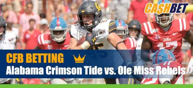 Alabama Crimson Tide vs. Ole Miss Rebels College Football picks and lines