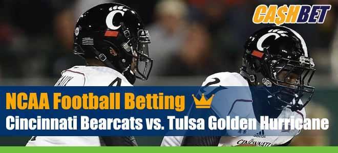 Cincinnati Bearcats vs. Tulsa Golden Hurricane NCAA Football Week 7 Odds, Previews and Betting Picks