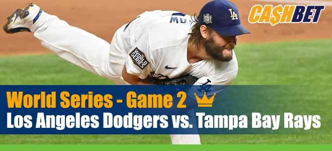 Los Angeles Dodgers vs. Tampa Bay Rays MLB World Series Game 2 Odds, Baseball Picks and Previews