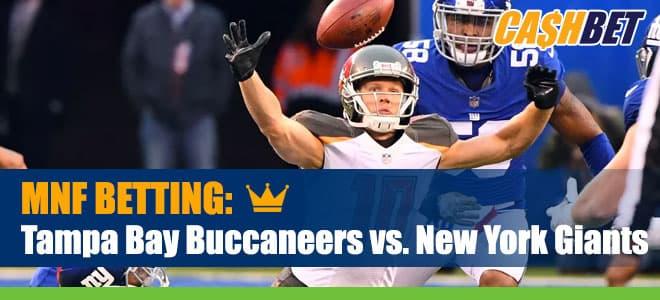 Tampa Bay Buccaneers vs. New York Giants Monday Night Football Betting