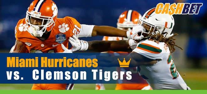 Clemson Hosts Miami in Saturday Night ABC Betting College Football Match
