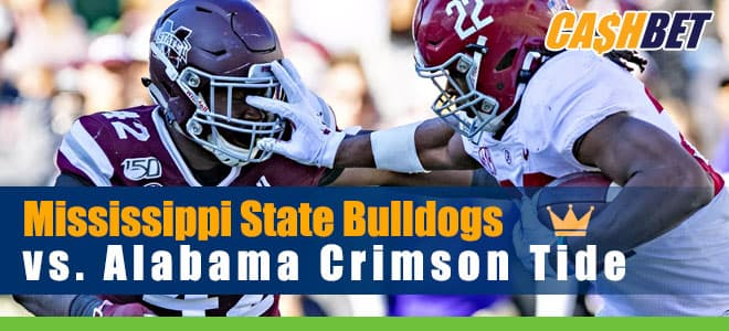 Mississippi State Bulldogs vs. Alabama Crimson Tide College Football betting preview, odds and picks