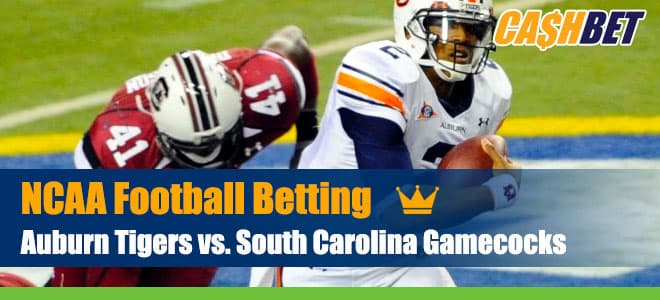 Auburn Tigers at South Carolina Gamecocks NCAA Football betting preview, odds and picks
