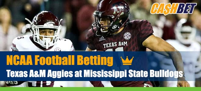 Texas A&M Aggies vs. Mississippi State NCAAF Betting Preview, Odds, Date & Time