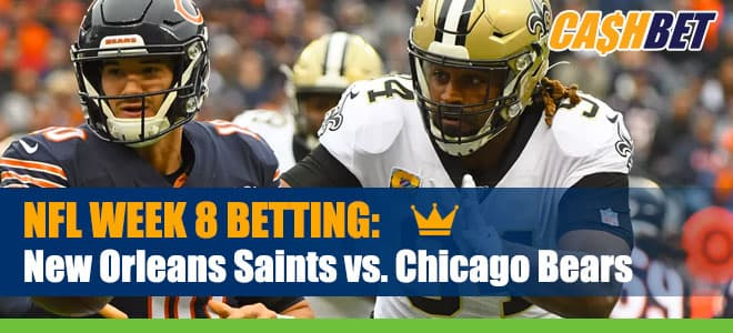 New Orleans Saints vs. Chicago Bears NFL Week 8 Odds and Picks