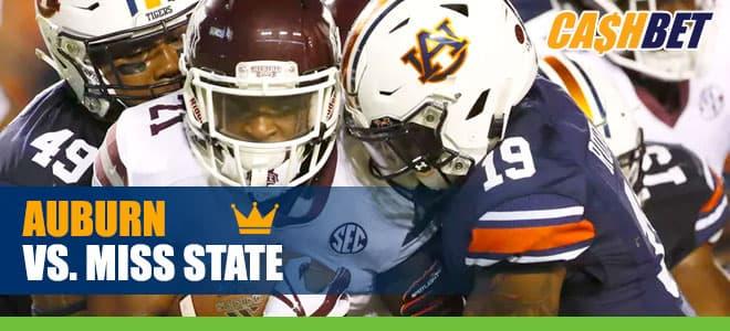 Auburn Tigers vs. Mississippi State Bulldogs NCAA Football betting
