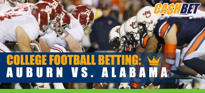 Auburn Tigers vs. Alabama Crimson Tide NCAA Football betting, odds and picks