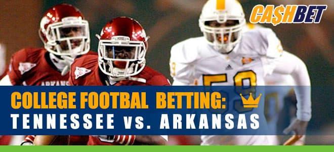 Arkansas Volunteers vs. Arkansas Razorbacks NCAAF Betting preview