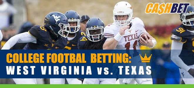 West Virginia Mountaineers vs. Texas Longhorns NCAA Football betting