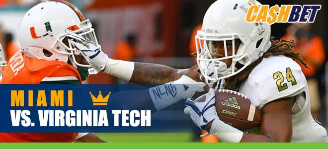 Miami Hurricanes vs. Virginia Tech Hokies NCAA Football betting preview and odds