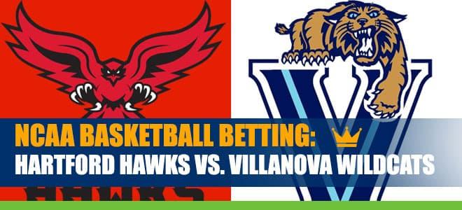 Hartford Hawks vs. Villanova Wildcats College Basketball best bets and odds