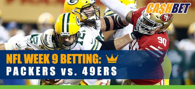 Green Bay Packers vs. San Francisco 49ers NFL Week 9 Betting odds and picks