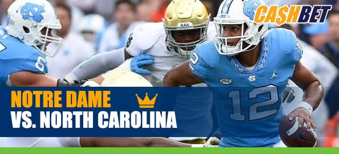 Notre Dame Fighting Irish vs. North Carolina Tar Heels NCAA Football betting