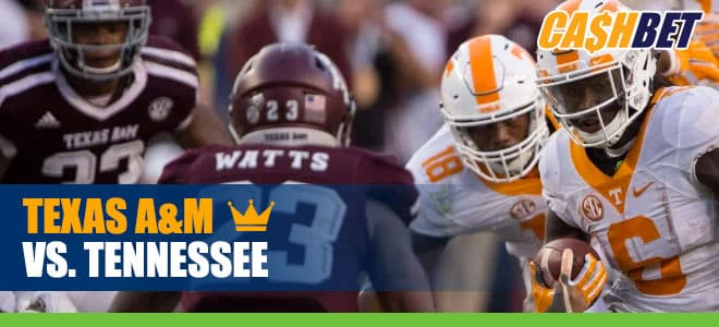 Texas A&M Aggies at Tennessee Volunteers odds and picks