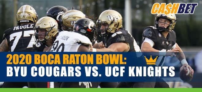 2020 Boca Raton Bowl BYU Cougars vs. UCF Knights betting odds and picks