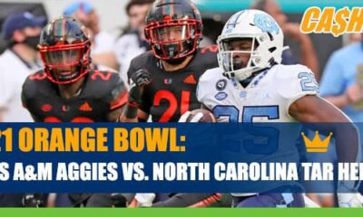 2021 Orange Bowl Betting: Texas A&M Aggies vs. North Carolina Tar Heels Odds