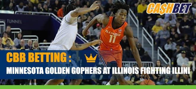 Minnesota Golden Gophers vs. Illinois Fighting Illini College Basketball Odds and Picks