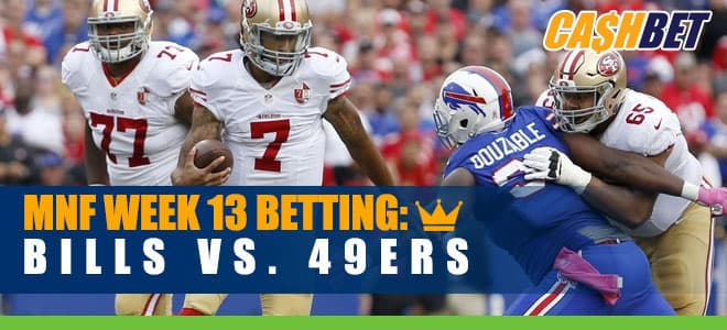 Buffalo Bills vs. San Francisco 49ers NFL Week 13 Odds and Picks