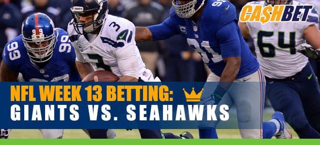 New York Giants vs. Seattle Seahawks NFL Week 13 Betting Odds and Picks