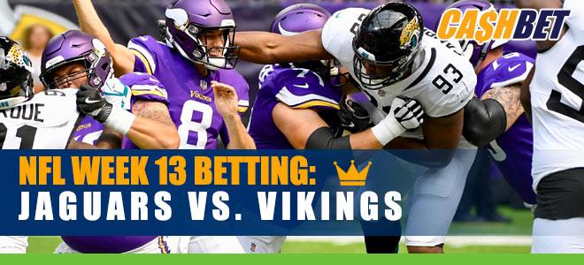 Jacksonville Jaguars vs. Minnesota Vikings NFL Week 13 Odds and Picks