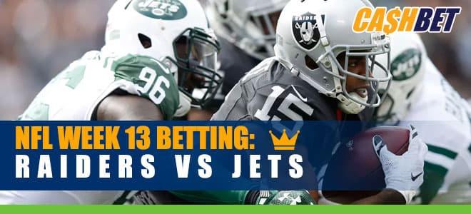 Las Vegas Raiders vs. New York Jets NFL Week 13 betting odds and picks