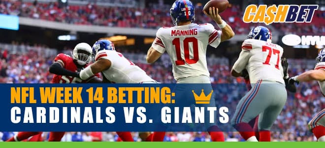 Arizona Cardinals at New York Giants Week 14 NFL Betting odds and picks