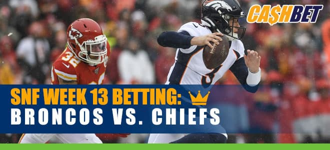 Denver Broncos vs. Kansas City Chiefs NFL Week 13 Odds and Picks