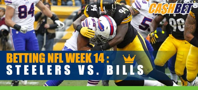 Pittsburgh Steelers at Buffalo Bills NFL Week 14 betting odds and picks