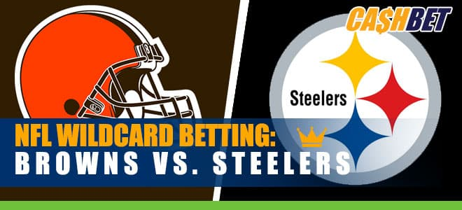 Steelers Betting Favorites vs. Browns in AFC Wild Card Sunday Night
