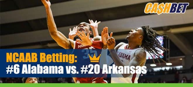 NCAAB Betting: #6 Alabama vs. #20 Arkansas Odds and Picks