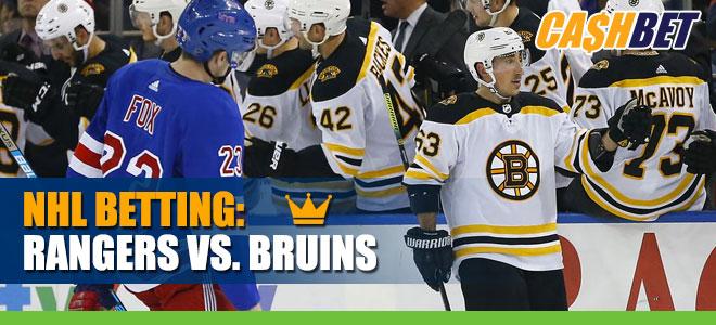 Boston Bruins vs. New York Rangers Betting on NHL